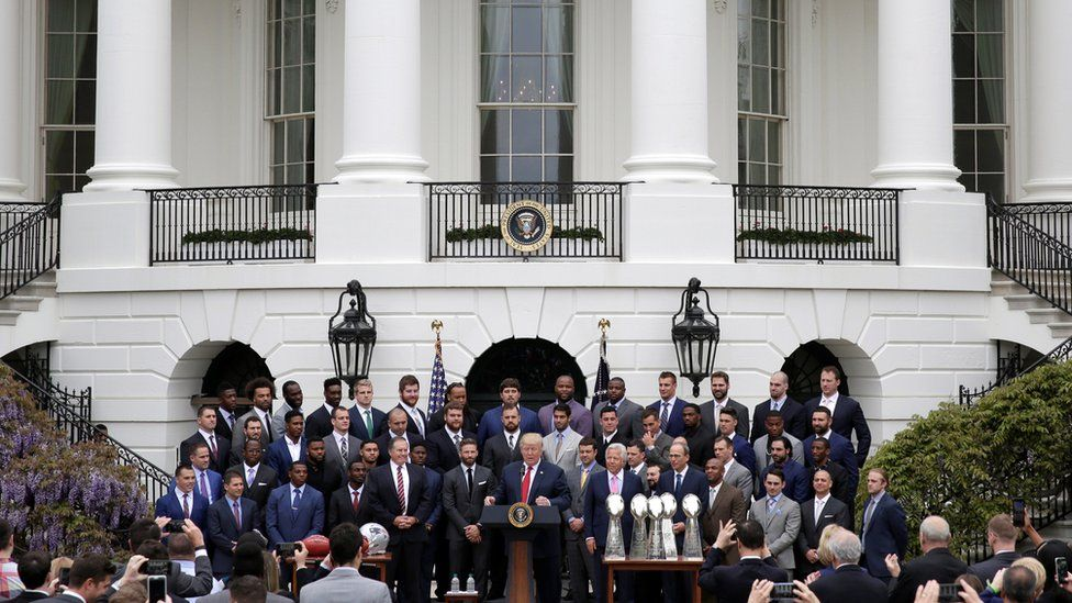 Pats celebrate Super Bowl win at White House