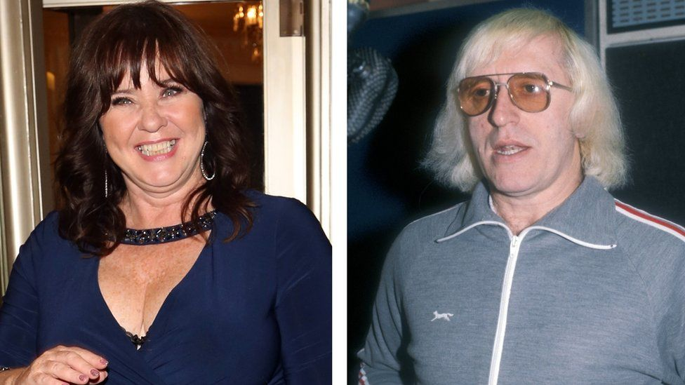 Coleen Nolan in 2017 and Jimmy Savile in 1979