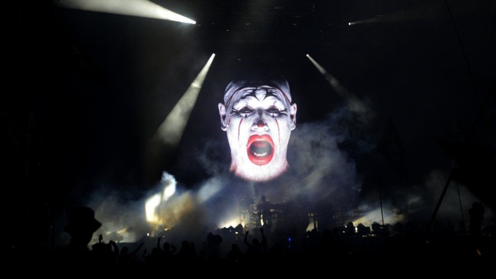 The Chemical brothers performing on the Other Stage at Glastonbury Festival 2015