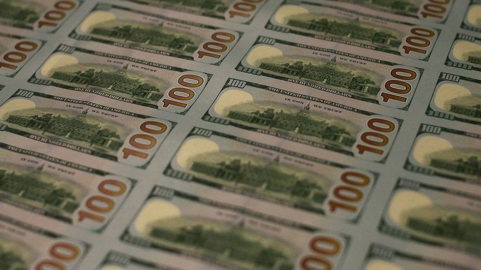US 100 Dollar Bills