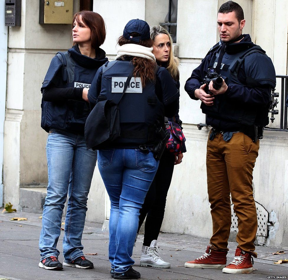 Police officers in Paris