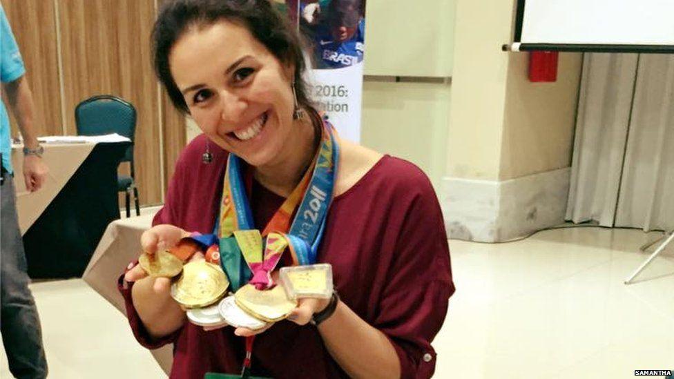 Samantha, tennis champion from Brazil