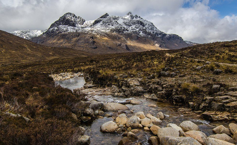 The dramatic Cuillin Hills on Skye are built from gabbros and granites