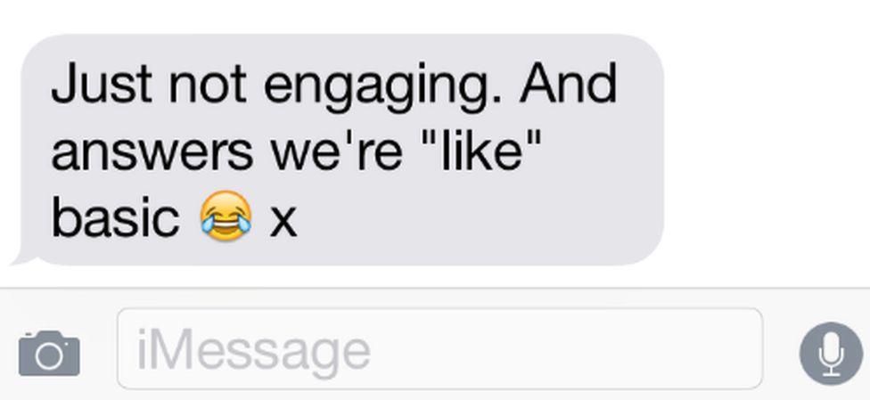 a text