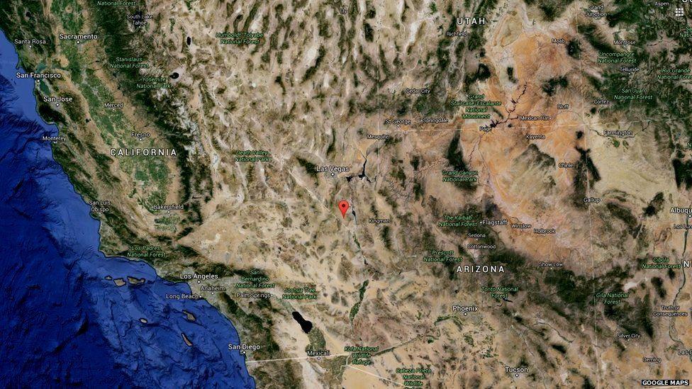Map of where Cal-Nev-Ari is