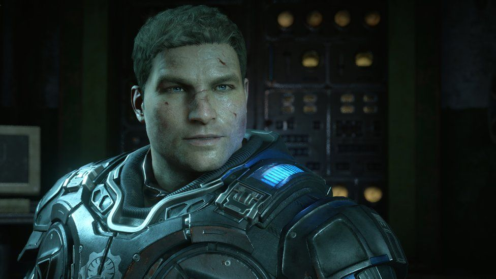 This is a photo of JD the lead in Gears of War 4.