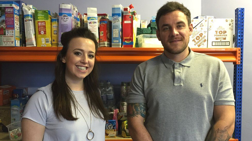 Youth workers Laura and Tom