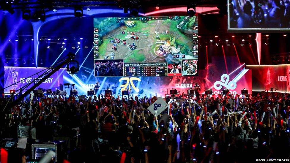 Fans at a League of Legends competition