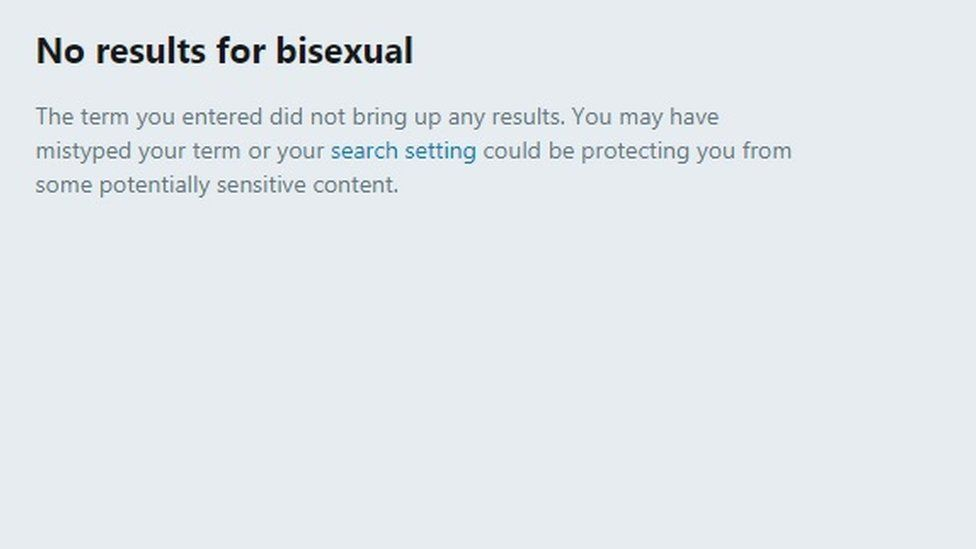 Twitter is under fire for blocking bisexual search terms