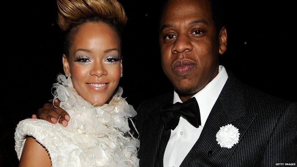 Rihanna and Jay Z