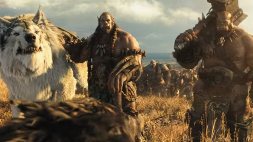 Scene of orcs from Warcraft