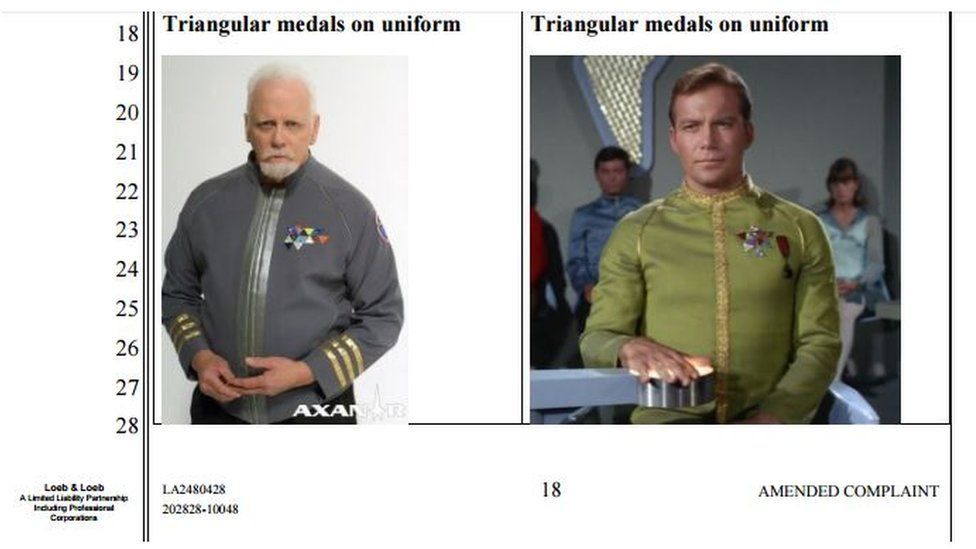 Images showing similarities of triangular medals on uniform