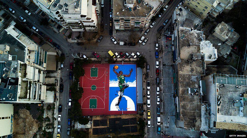 Basketball court, Greece