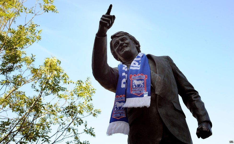 Statue of Sir Bobby Robson at Ipswich Town's ground, Portman Road