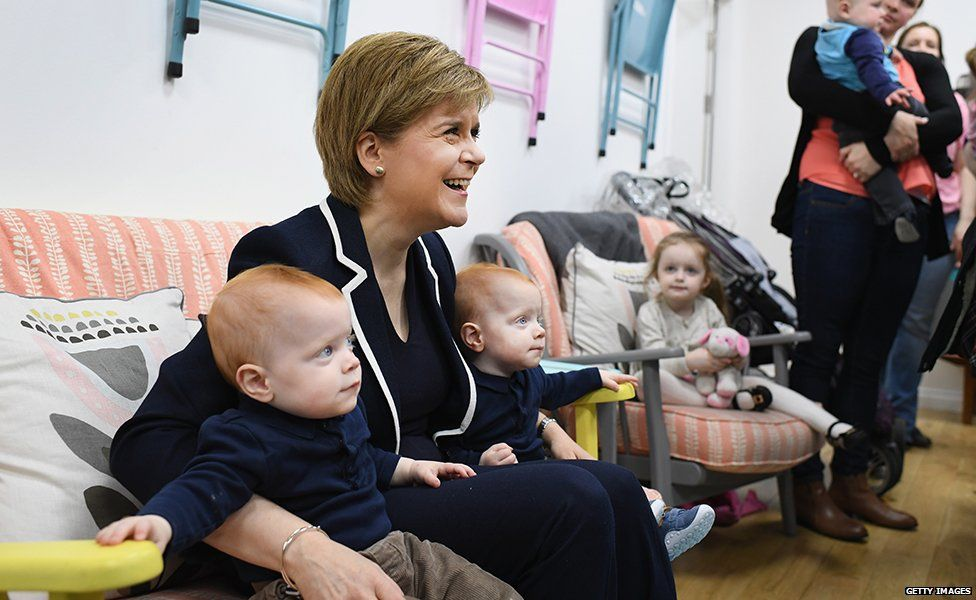 Nicola Sturgeon with children