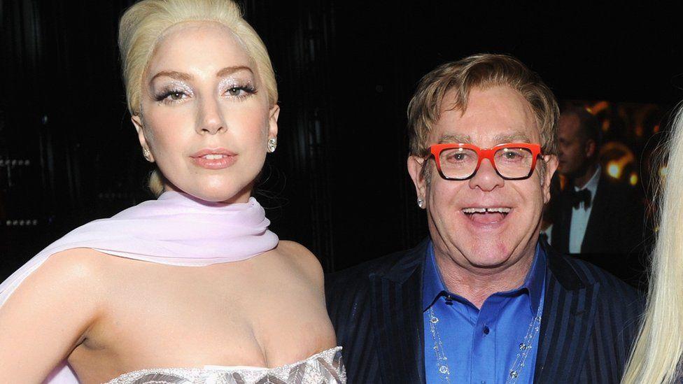 Lady Gaga and Sir Elton John
