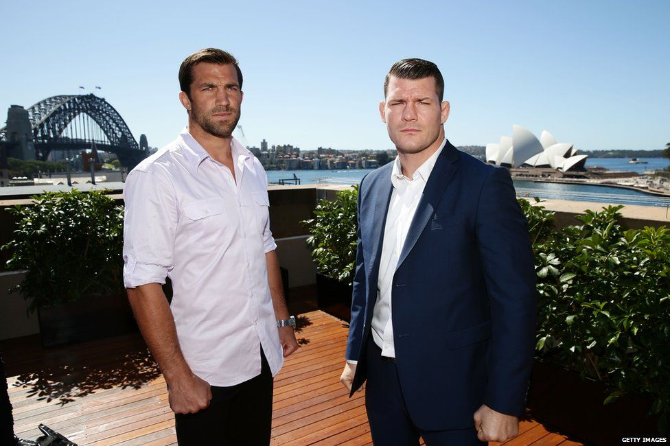 Luke Rockhold and Michael Bisping