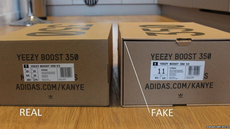 e97091956d9 How to spot fake Yeezy trainers - BBC Newsbeat