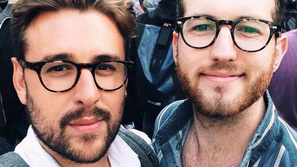 Thomas Rees and boyfriend Josh