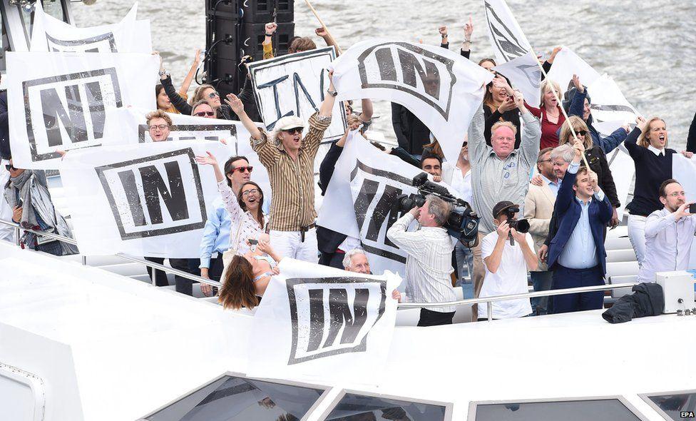Bob Geldof's Remain boat