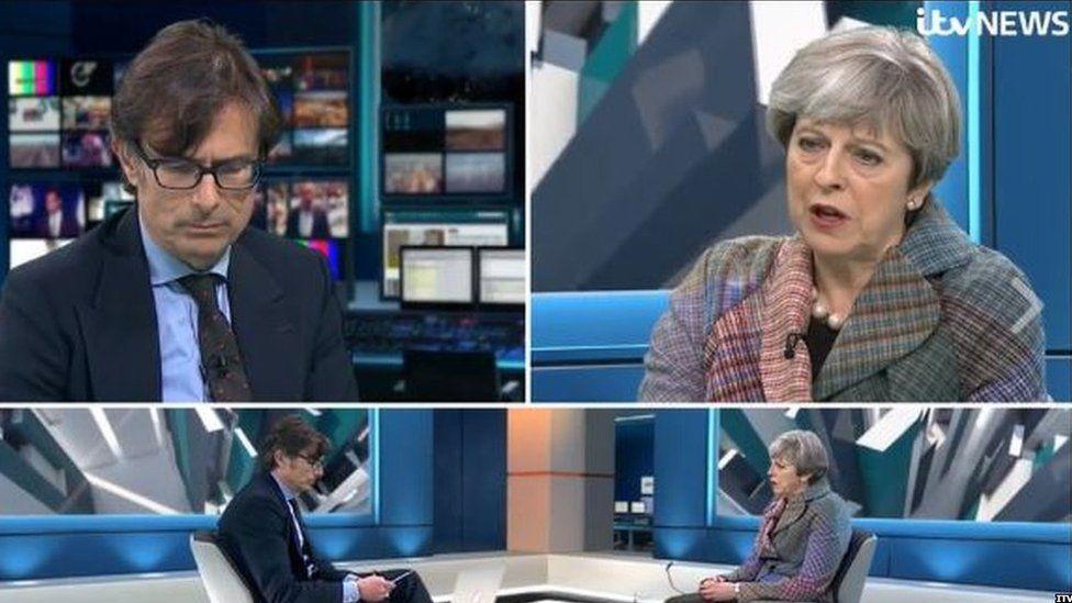 Theresa May on ITV News