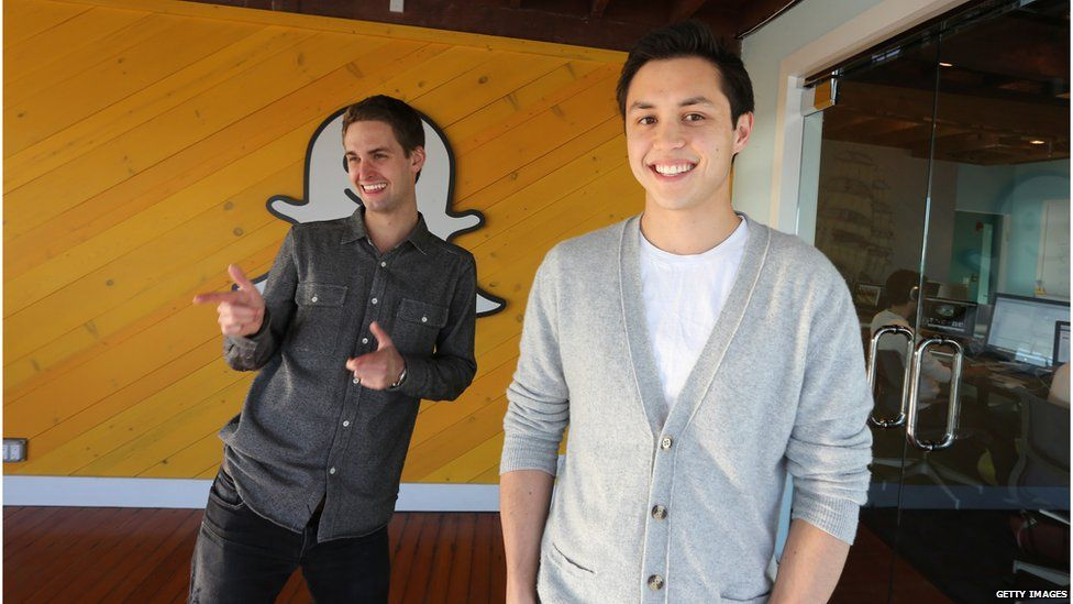 Snapchat cofounders Evan Spiegel and Bobby Murphy