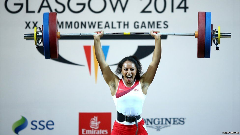 Zoe Smith competing in Glasgow