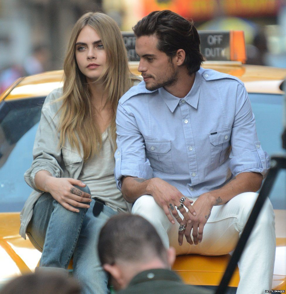 Cara Delevingne and Dylan Rieder in a DKNY shoot