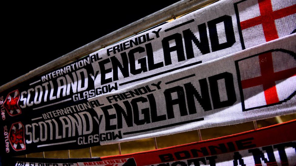 England and Scotland scarves on sale