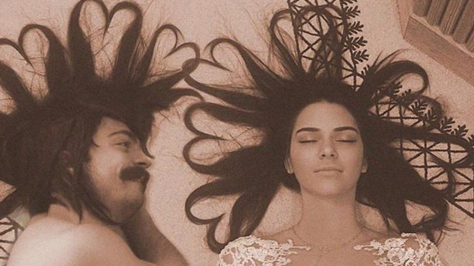 Kirby Jenner poses next to Kendall Jenner