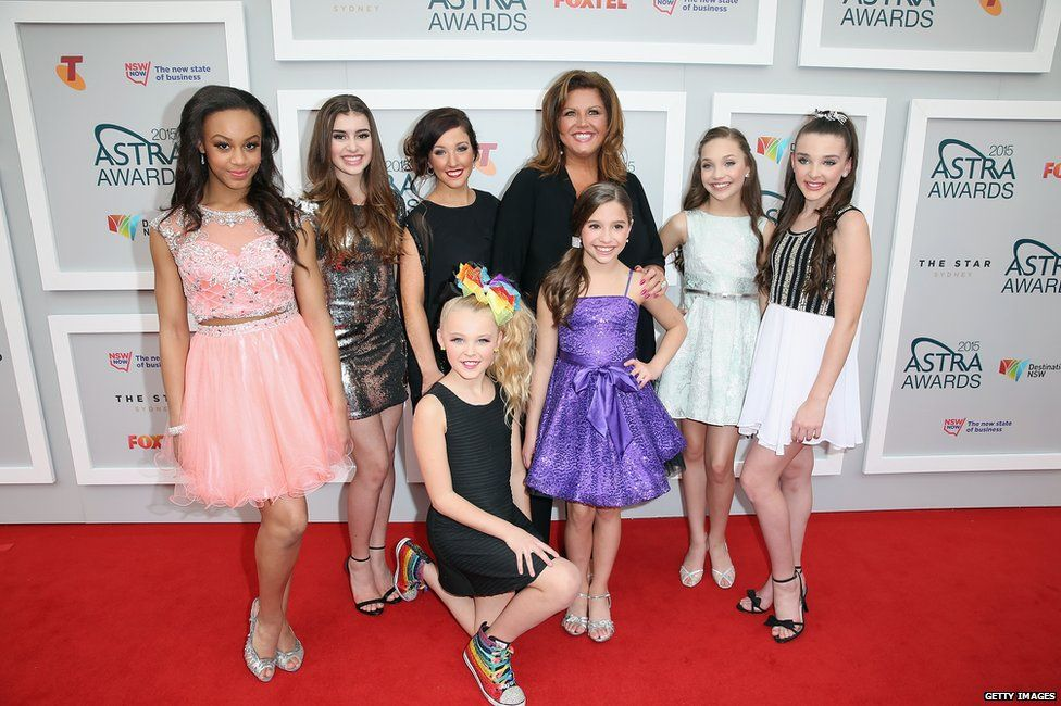 Abby Lee Miller with children from her dance show