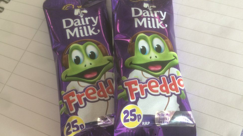 Two Freddo chocolate bars