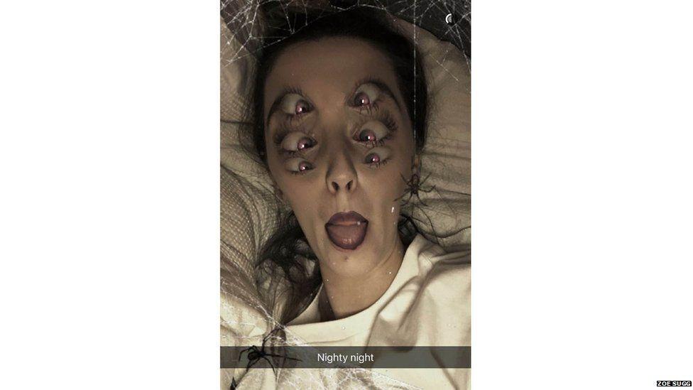 Zoella Snapchat grab
