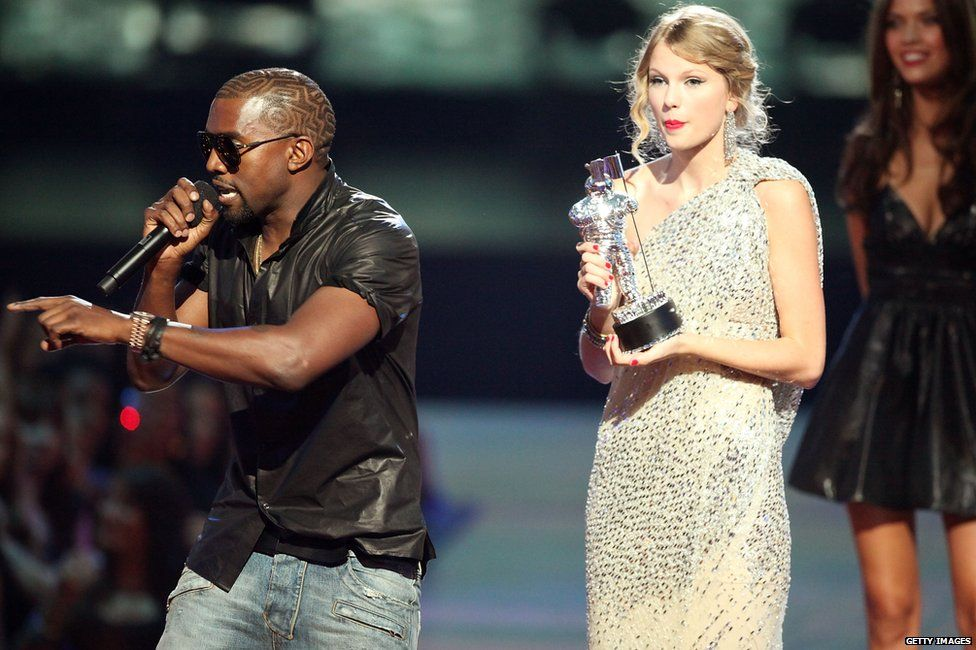 Taylor Swift disses Kanye West at the Grammy Awards during