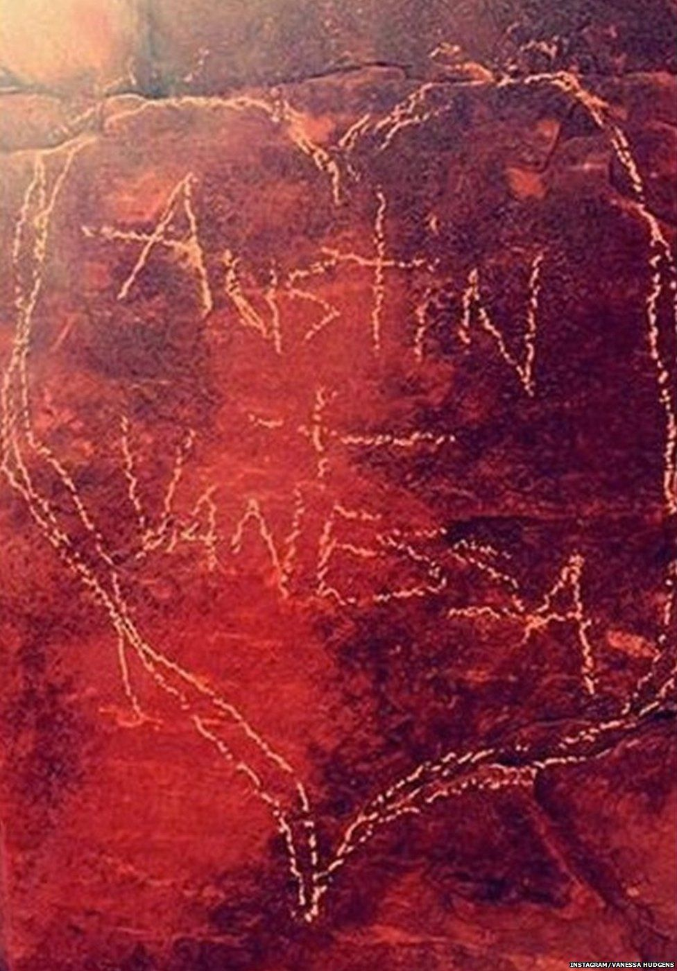 Deleted picture of Vanessa Hudgens' rock carving