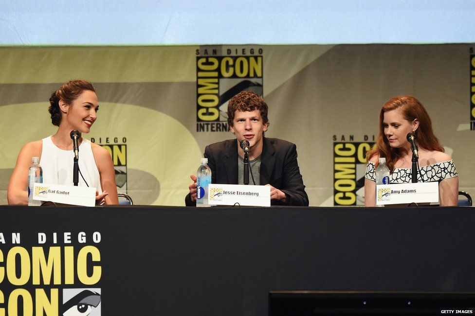 Gal Gadot, Jesse Eisenberg and Amy Adams