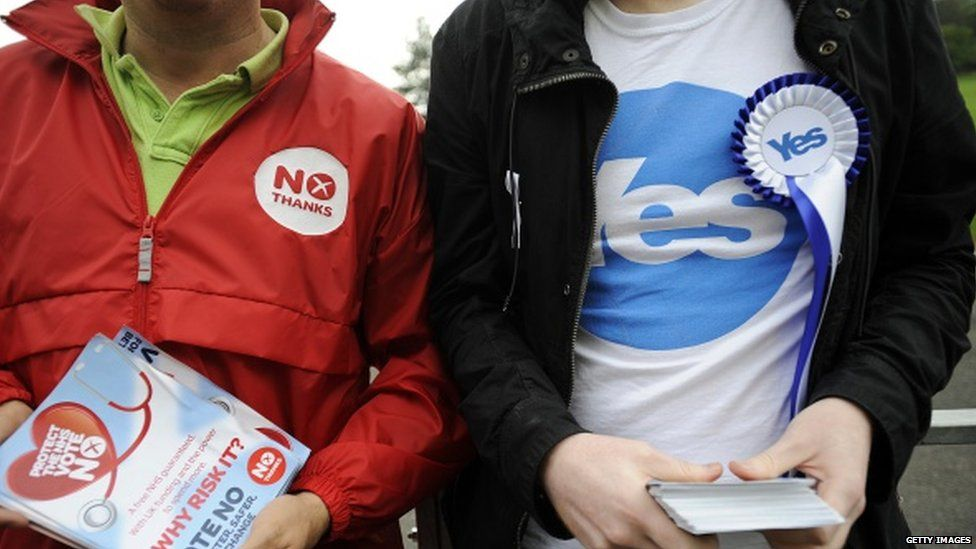 Campaigners from the Scottish independence referendum