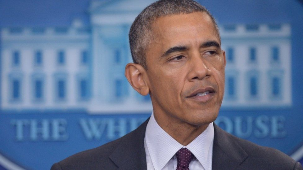 President Obama speaking at the Whitehouse about the latest college shooting