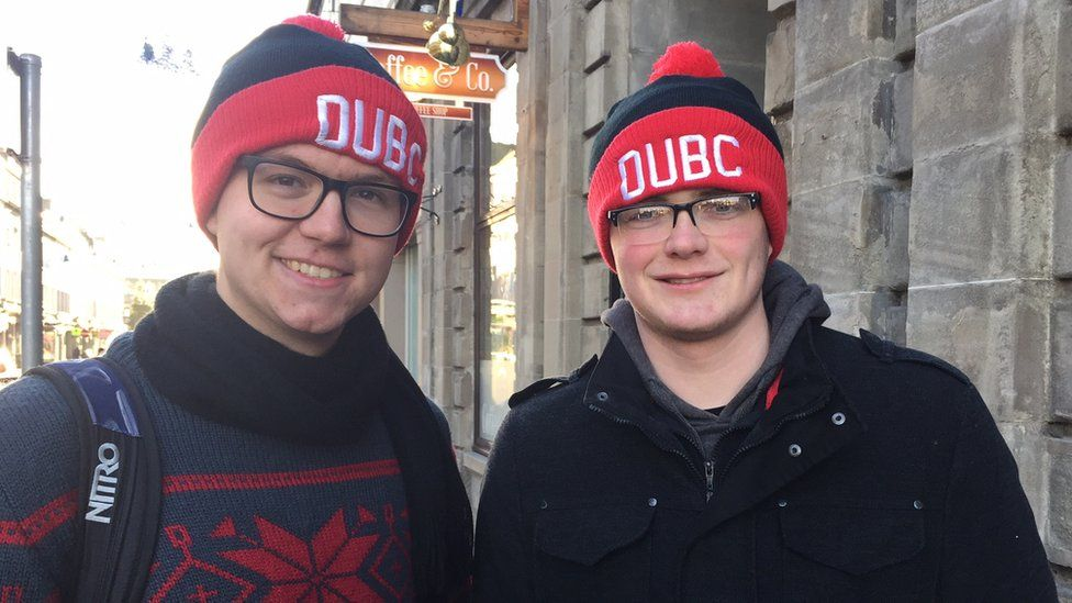Sean McGinley and Neil Hughes, both 20-year-old students