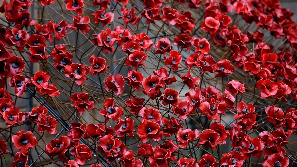 Remembrance poppy controversies and how to wear it bbc newsbeat ceramic poppies mightylinksfo