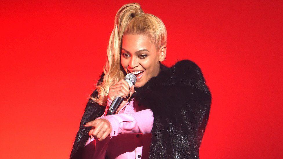 Beyoncé performing at Tidal X in New York.