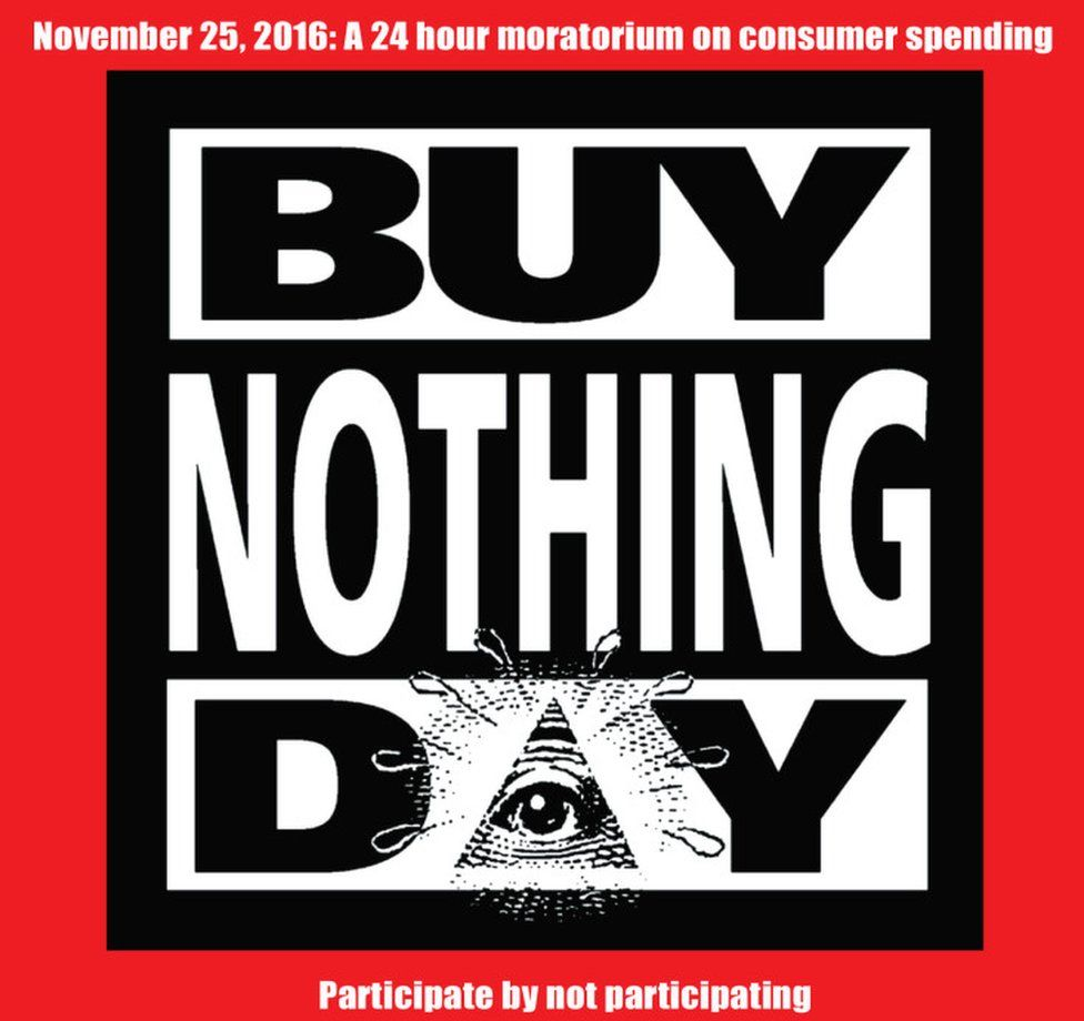Buy Nothing Day sign