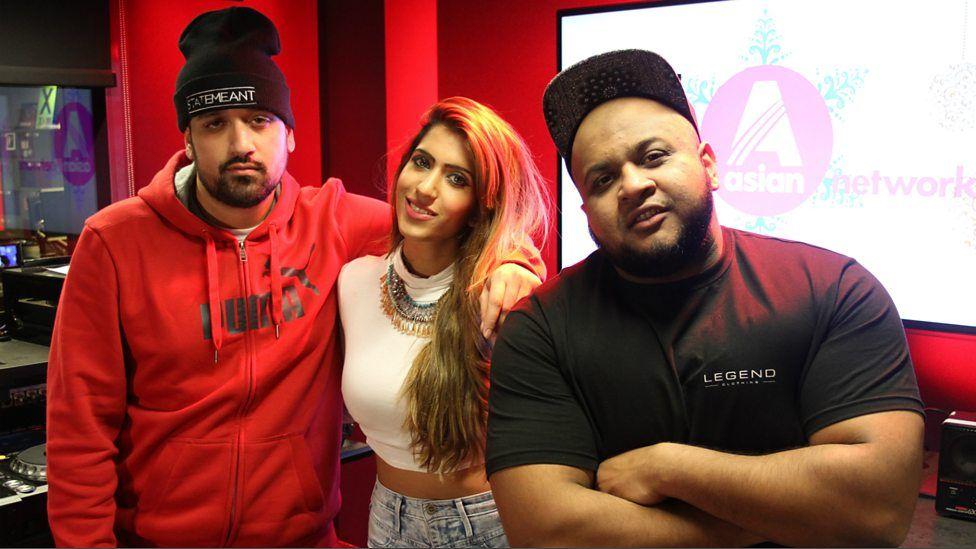 Tasha Tah in the studio with Kan D Man & DJ Limelight