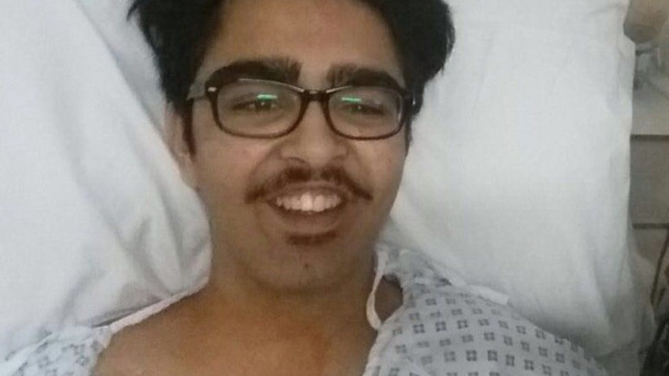 Manvir in hospital
