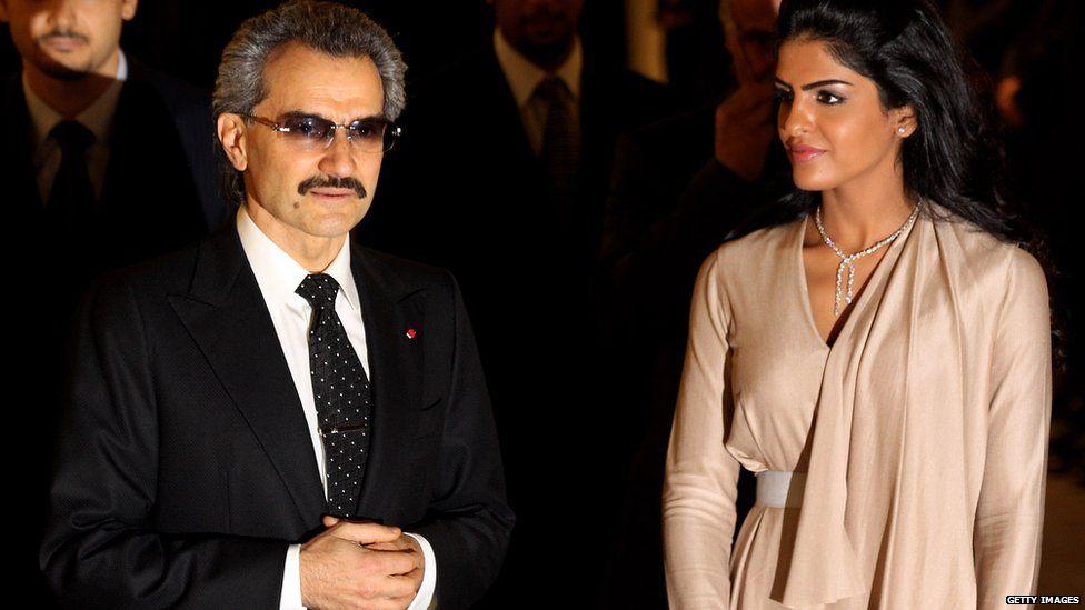 Prince Alwaleed bin Talal with his wife Amira