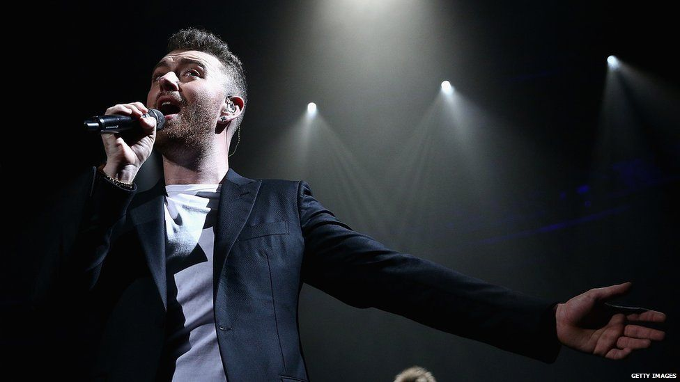 Sam Smith singing in concert