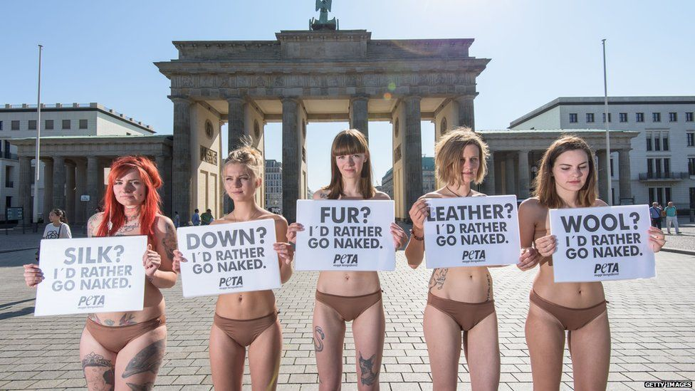 PETA supporters protesting in Germany