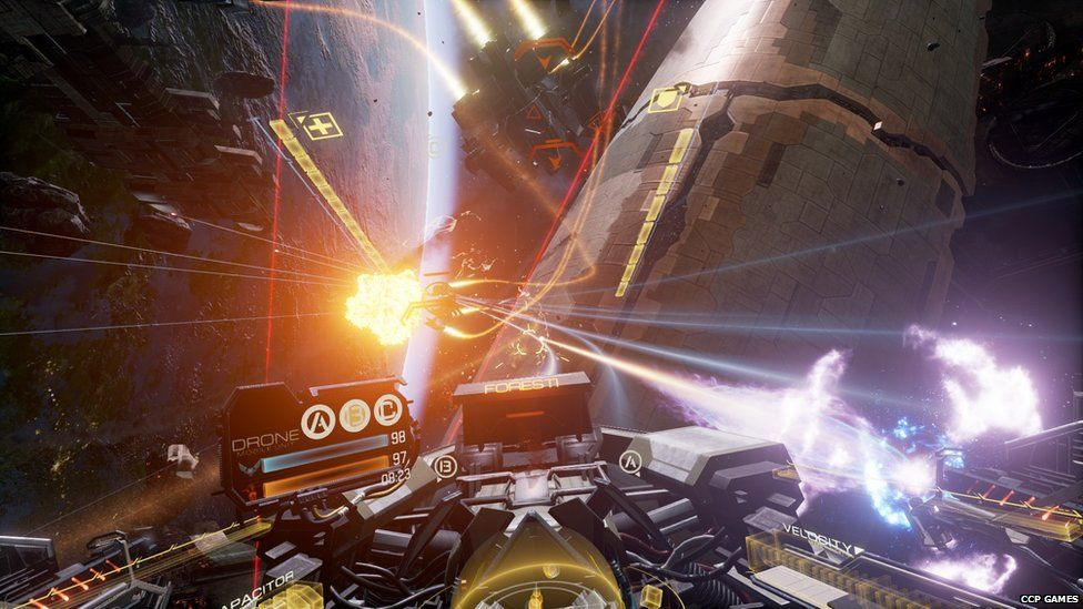 Gameplay of Eve: Valkyrie