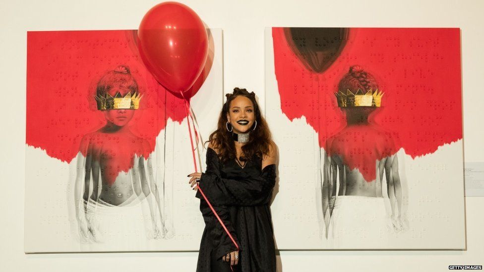 Rihanna and the artwork for her new album Anti