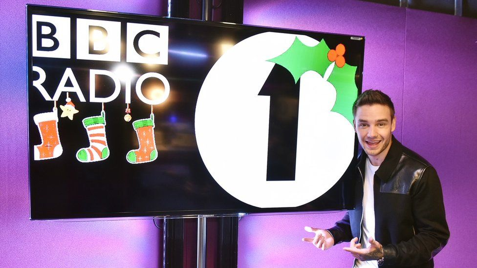 Liam Payne in the Radio 1 studios
